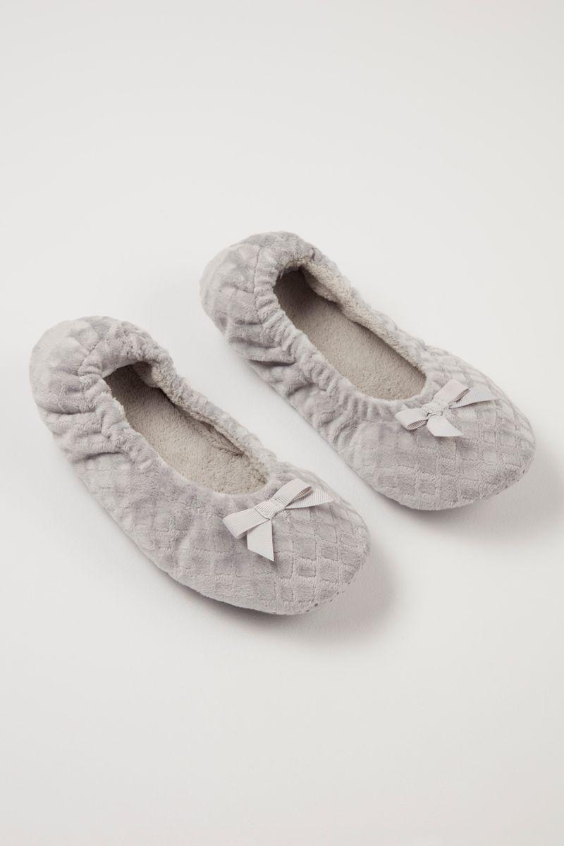 Grey Ballerina slippers