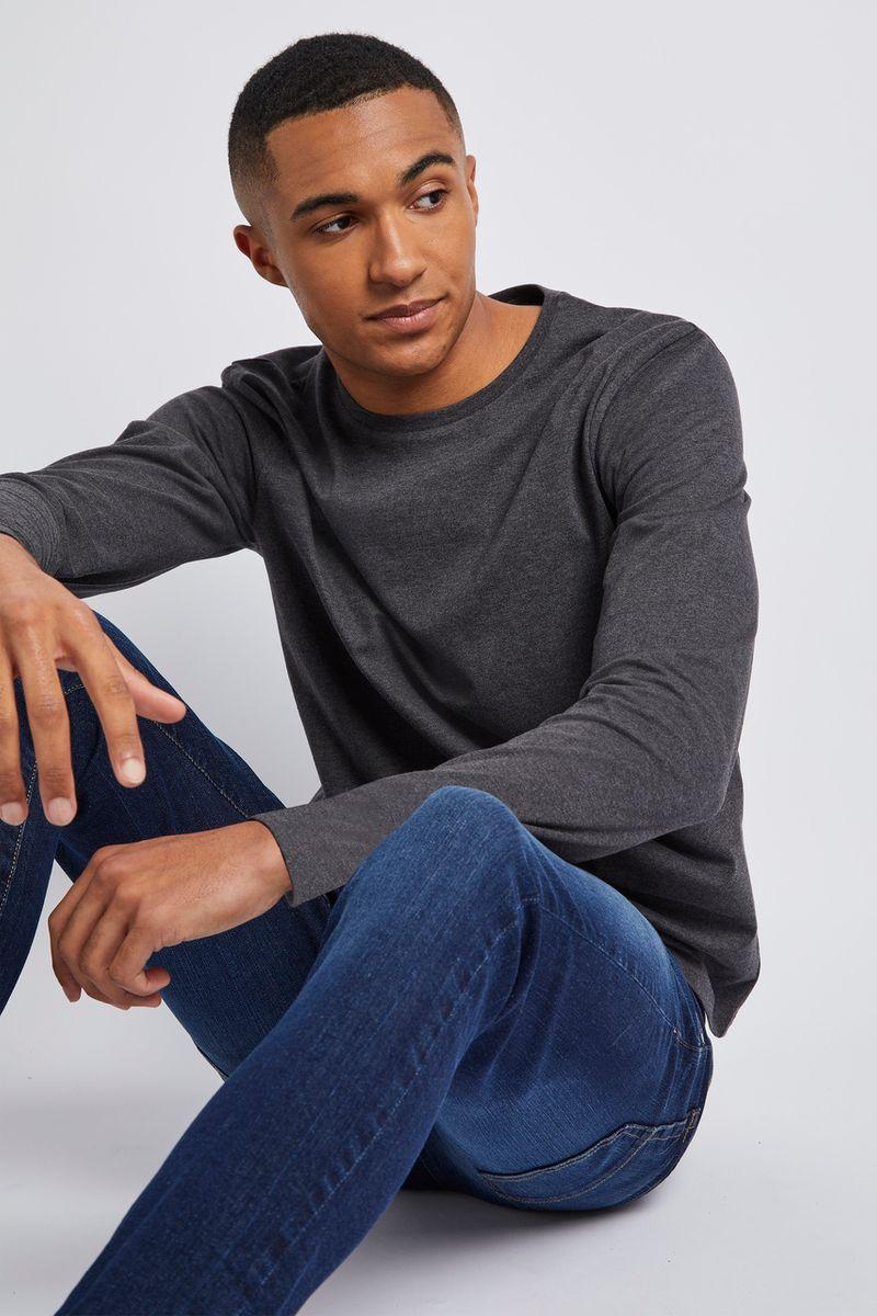 Charcoal Long Sleeve Top