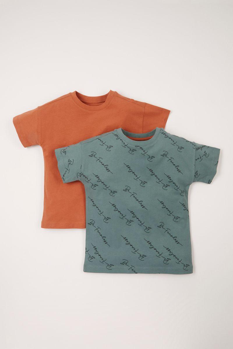 2 Pack Script T-shirts 1-10 yrs