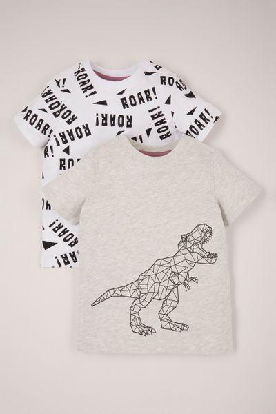 Geometric Dinosaur Print T-shirt