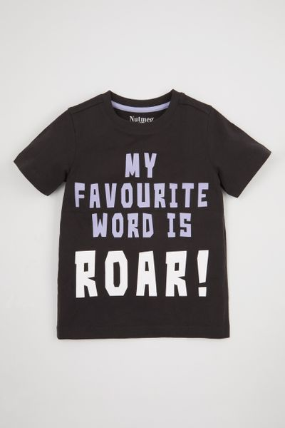 Roar Slogan Print T-shirt