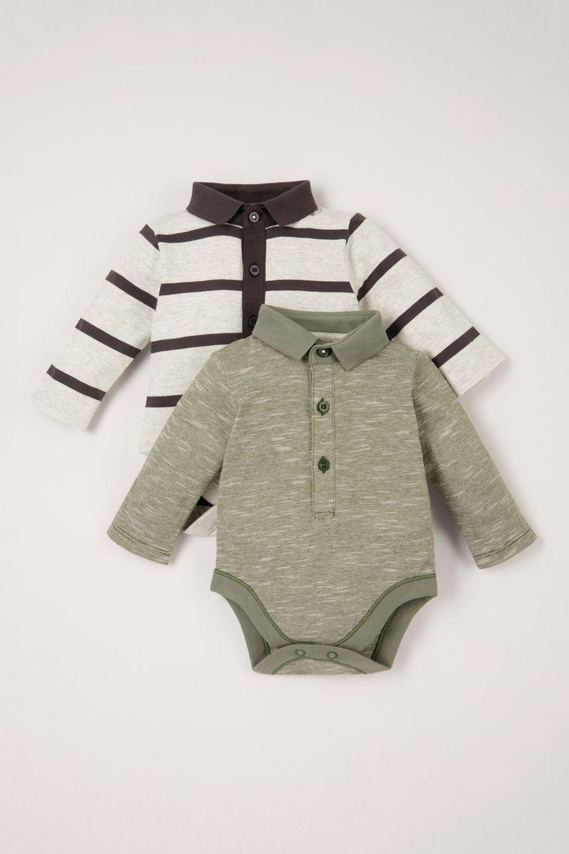 2 Pack Stripe Bodysuits