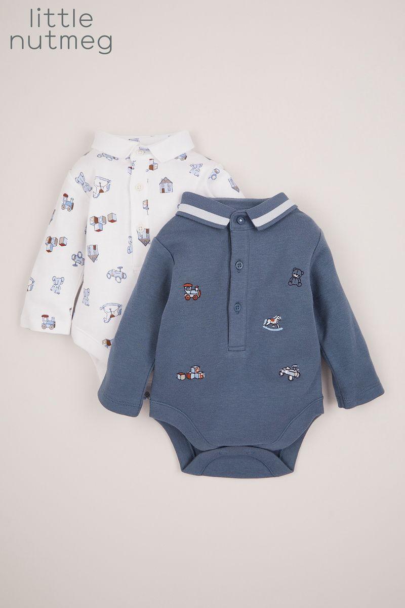 Little Nutmeg 2 Pack Polo Shirt Bodysuits