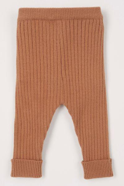 Brown Soft Knitted Leggings