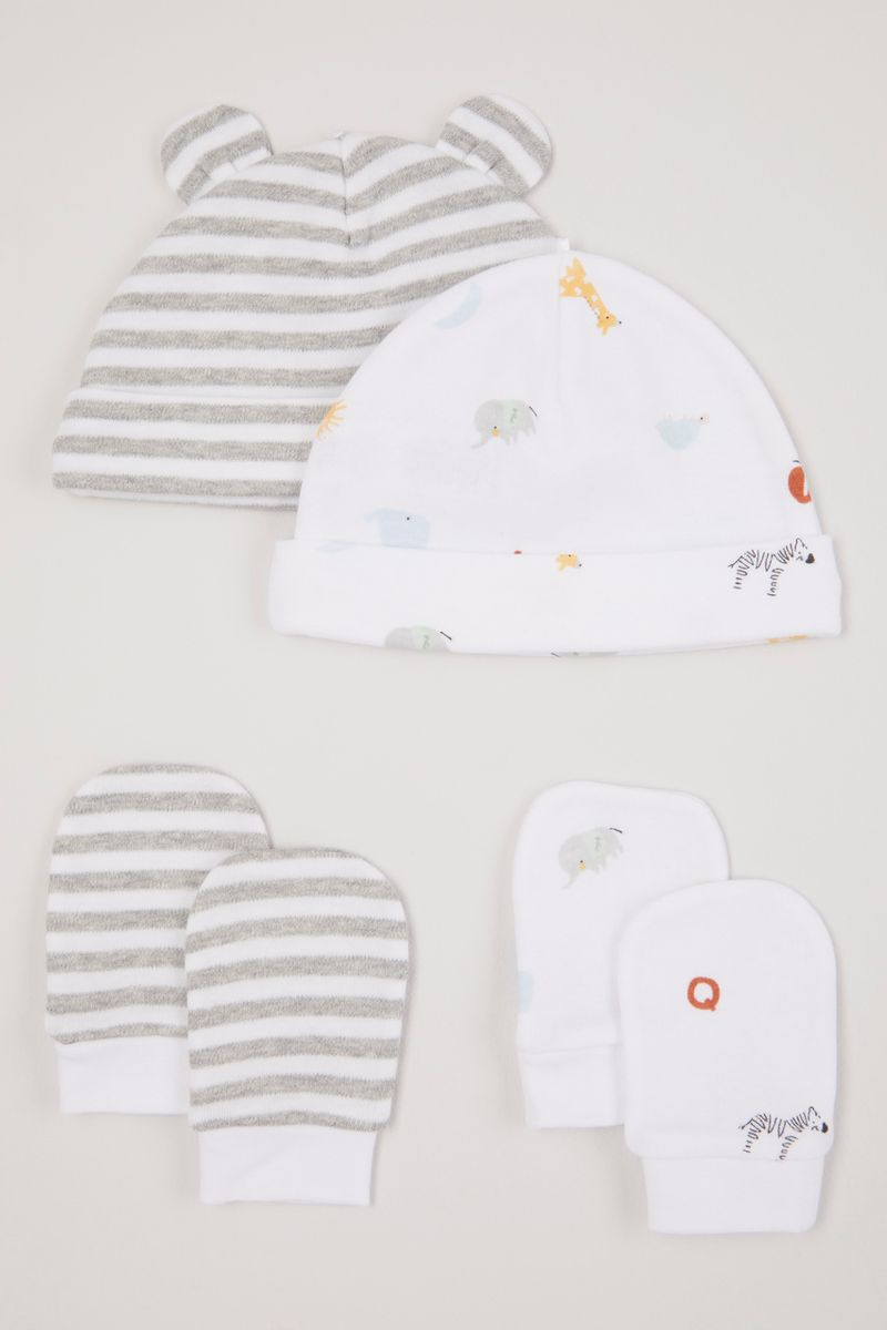 2 Pack Elephant Hats & Scratch mitts