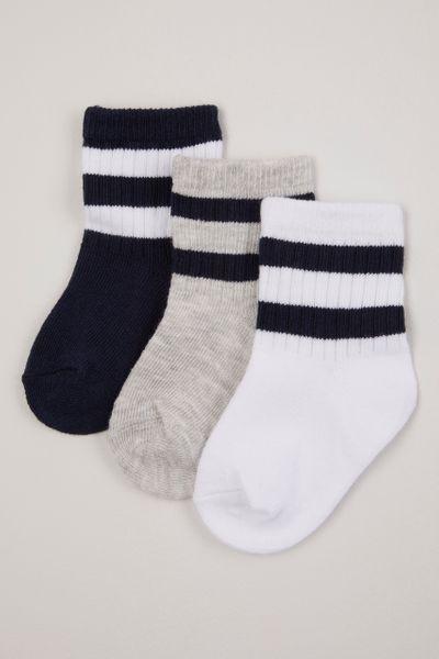 3 Pack Sporty Stripe socks