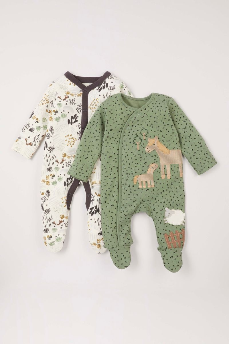 2 Pack Horse Sleepsuits