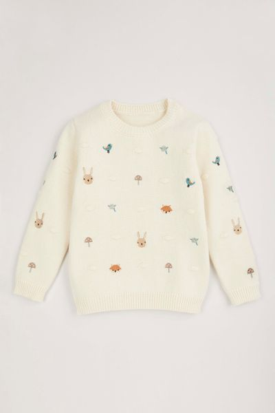 Rabbit Embroidered Jumper