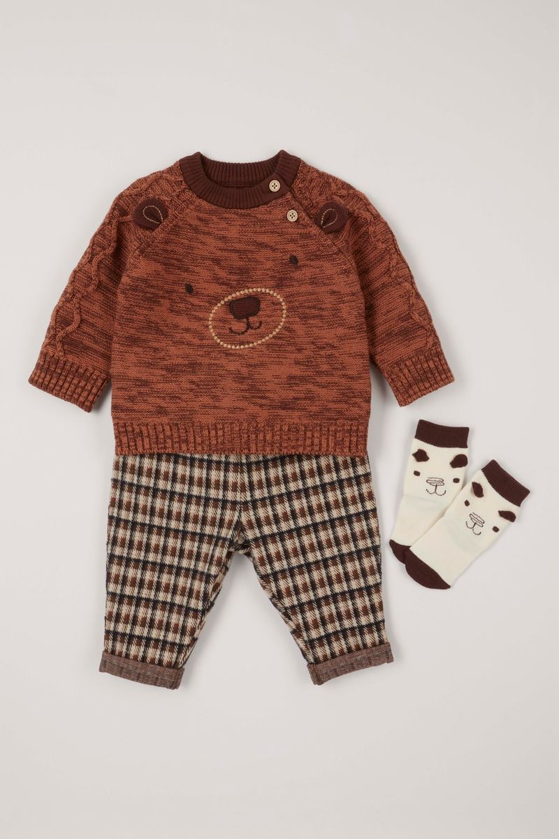 3 Piece Bear Set with Socks