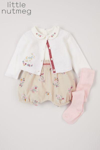 Little Nutmeg Floral Cardigan Set