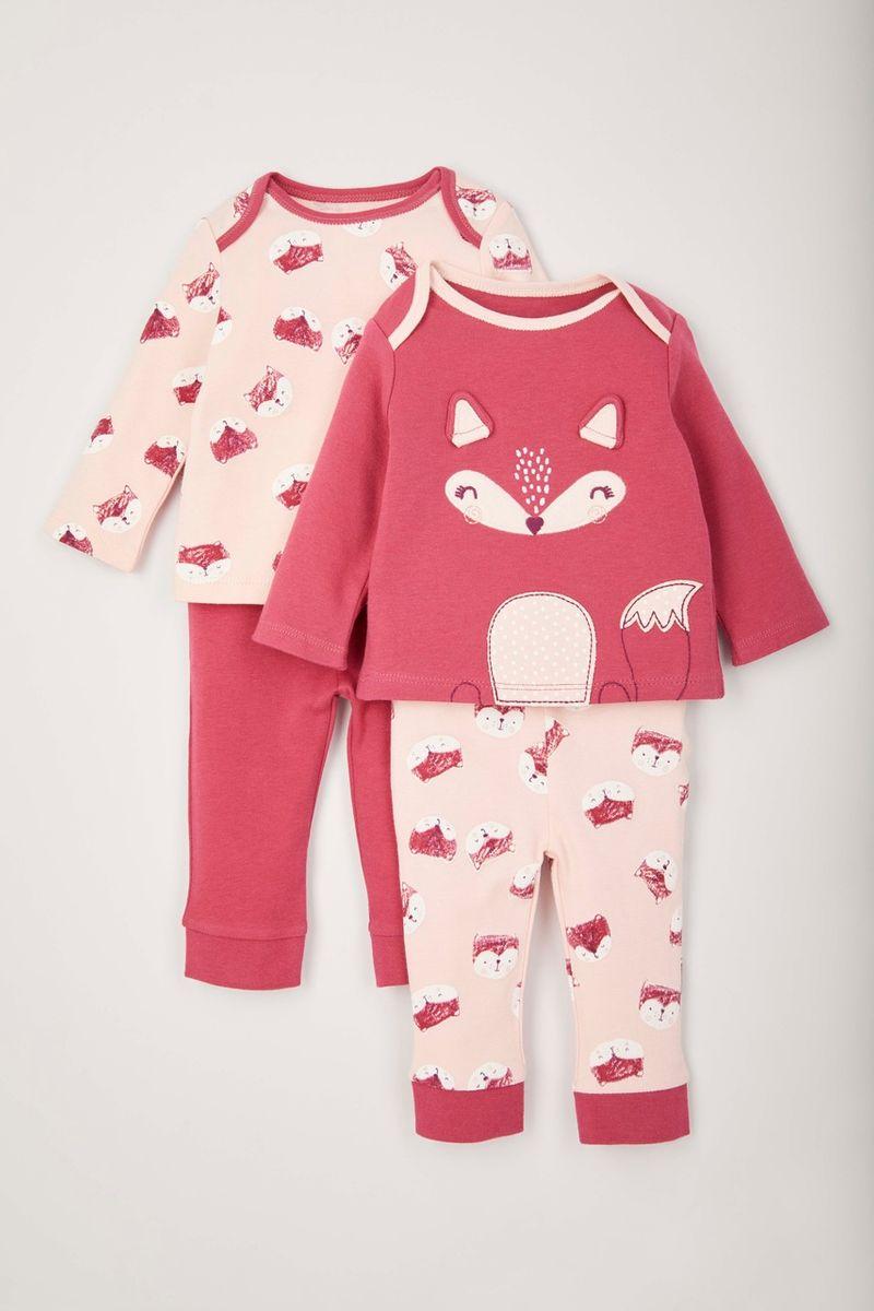 2 Pack Fox Pyjamas