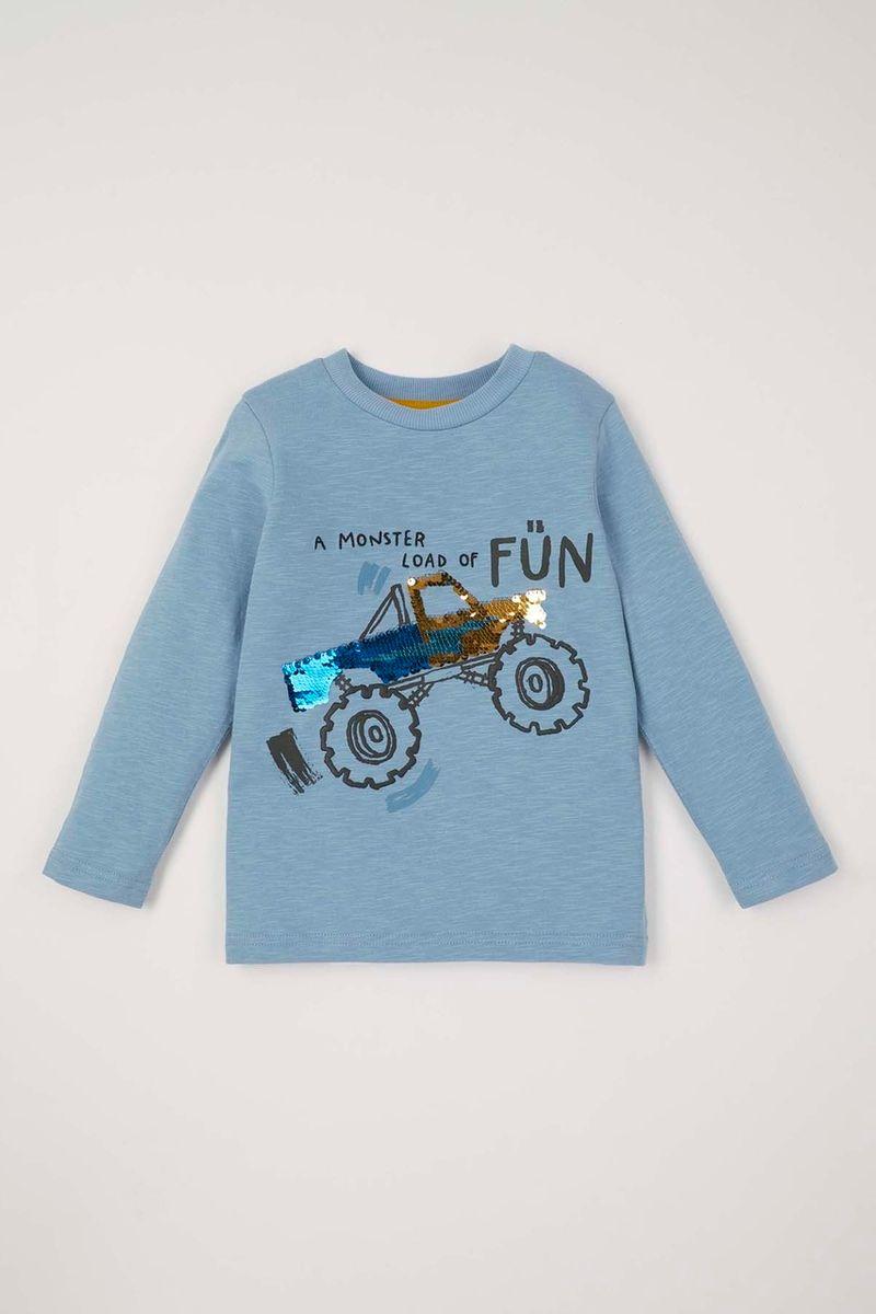 Interactive Sequin Monster Truck T-shirt