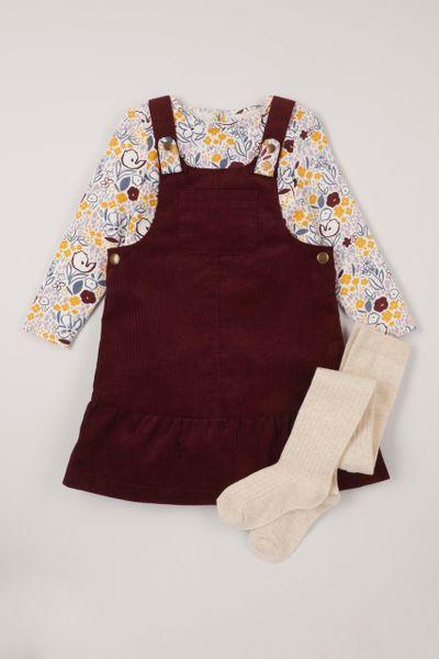 3 Piece Berry Cord Dress Set