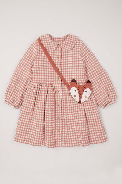 Check Dress & Fox bag