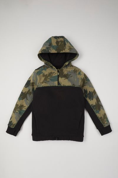 Camo Print Panel hoodie