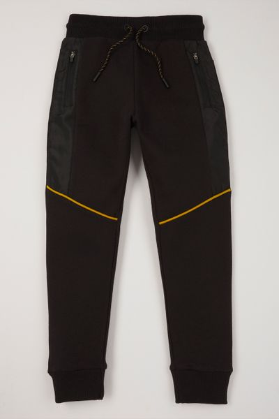 Black Yellow Piping Joggers