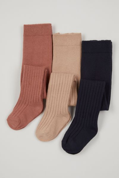 3 Pack Cable Knit Tights