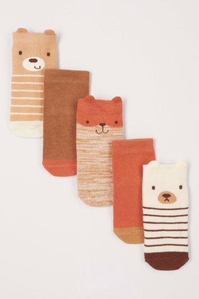 5 Pack Bear Socks