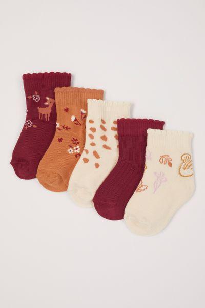 5 Pack Woodland Deer Socks