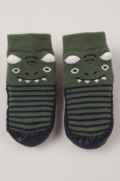 Dinosaur moccasins slippers