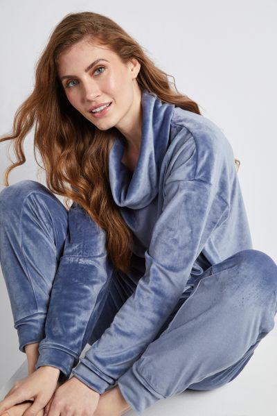 Blue Velour Loungewear pyjamas