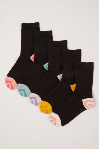 5 Pack Stripe Fruit Socks