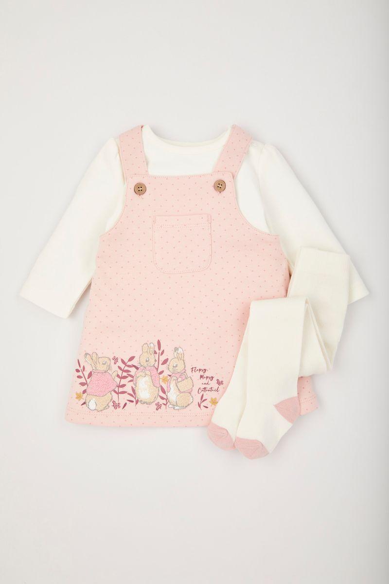Peter Rabbit Pinafore Dress Set