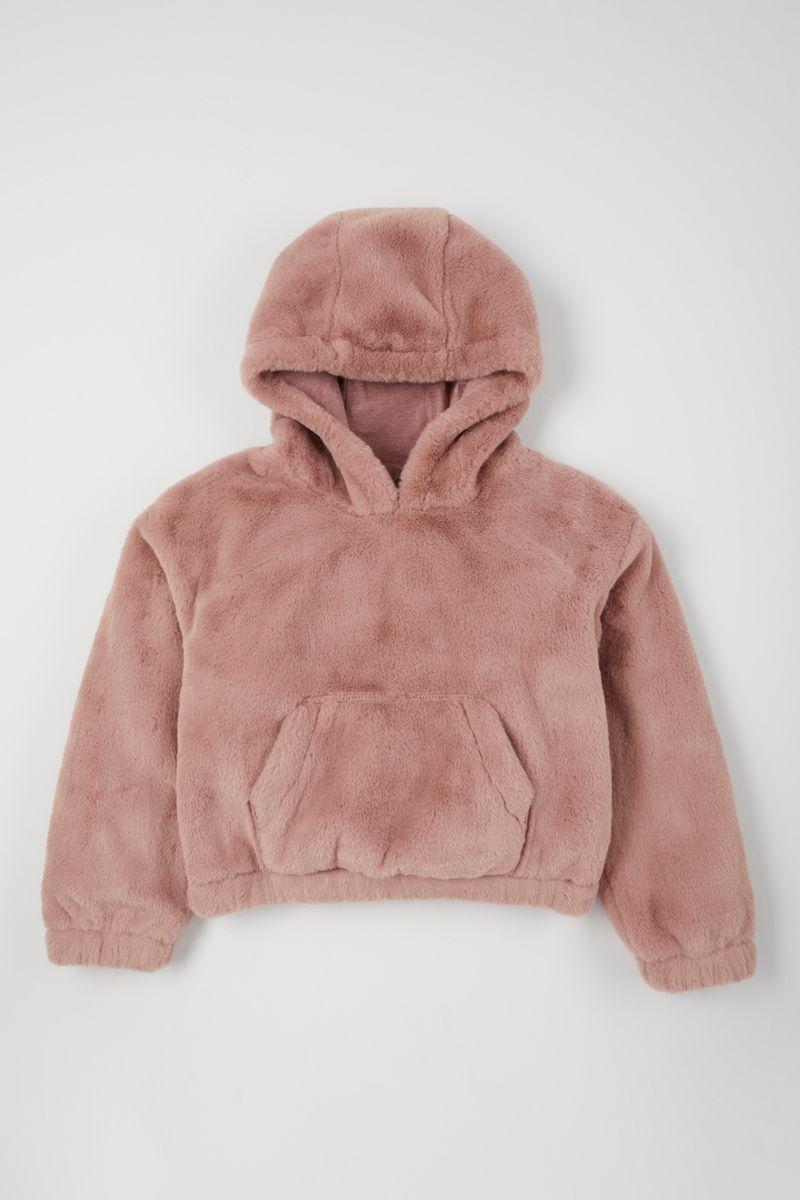 Soft Faux Fur Hoodie