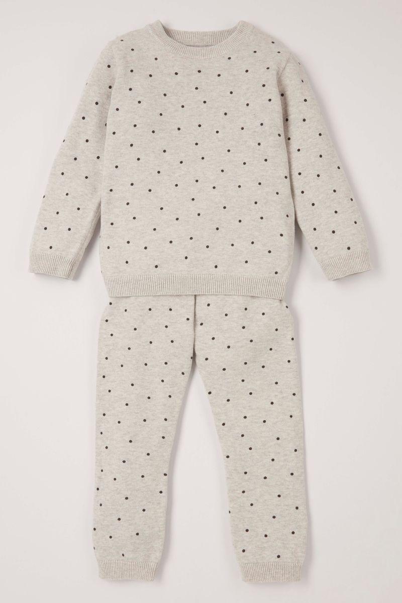 Knitted Spot Jumper Set