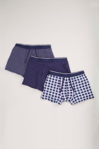 3 Pack Check Stripe trunks