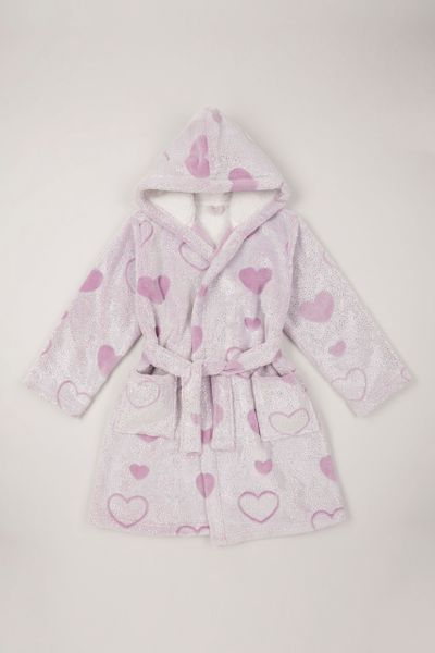 Lilac Sparkle Heart Dressing Gown