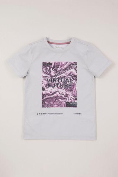 Slogan Marble T-shirt