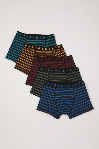5 Pack Stripe & Stars Trunks