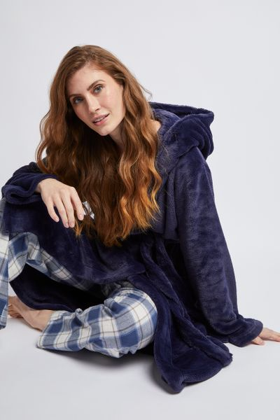 Navy Dressing Gown
