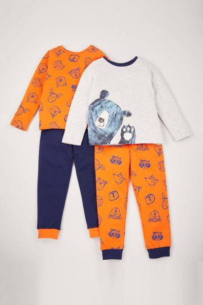 2 Pack Peeping Bear pyjamas