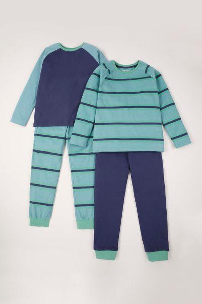 2 Pack Stripe Print pyjamas