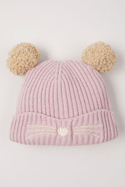 Lilac Pom Pom hat