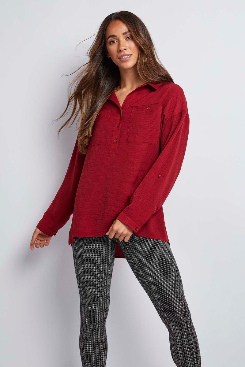 Berry Woven Shirt
