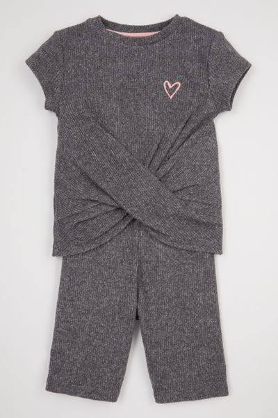 2 Piece Charcoal Short set