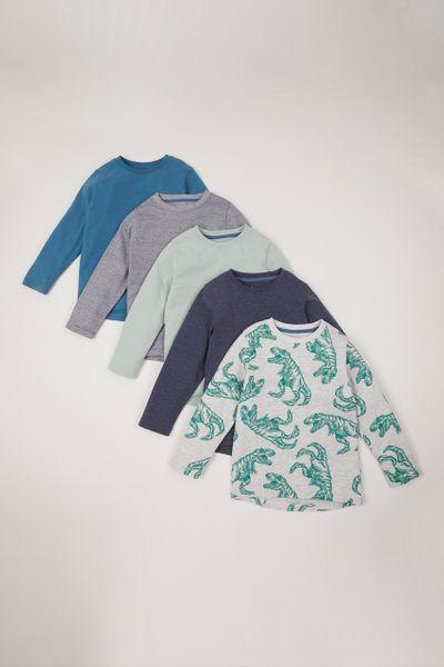 5 Pack Dino T-shirts 1-10yrs