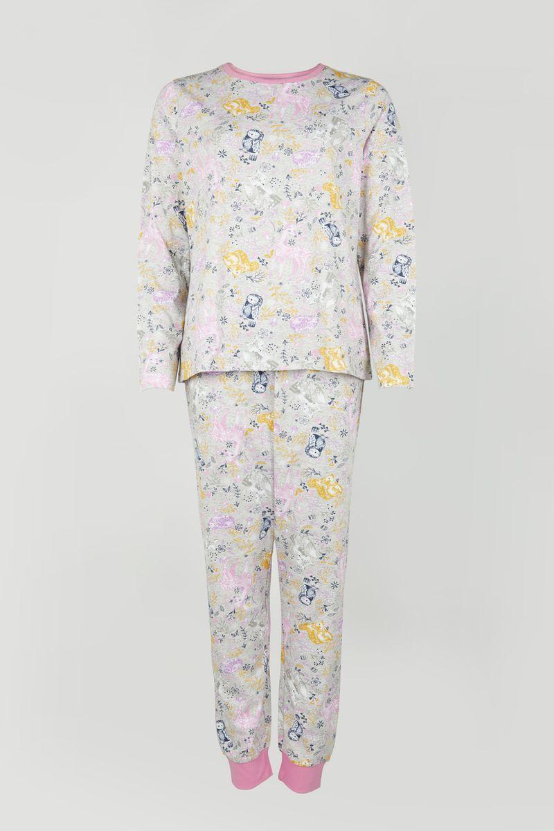 Lilac Woodland Print Pyjamas