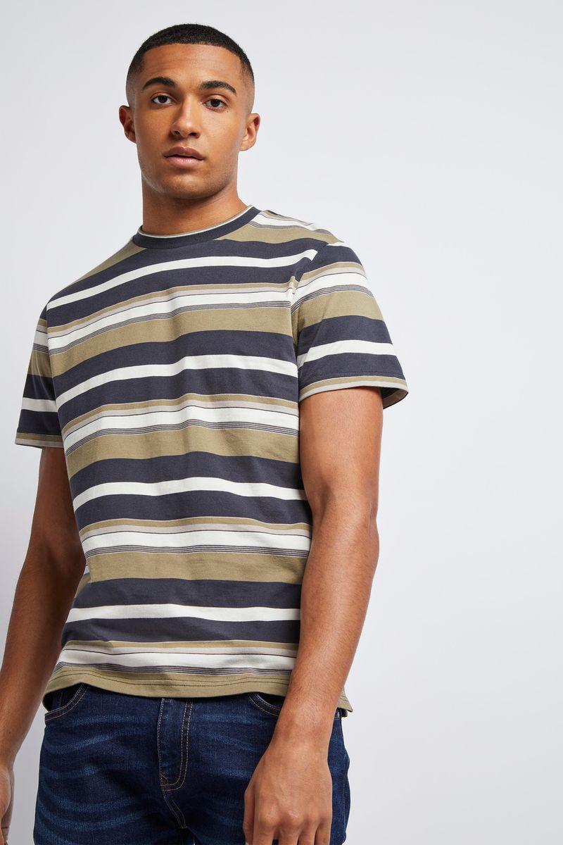 Khaki Green Stripe T-Shirt