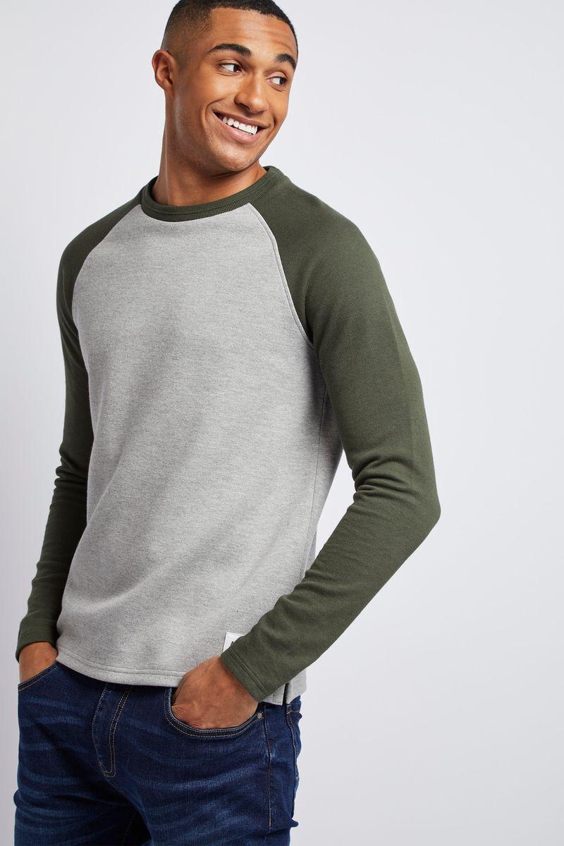 Khaki Raglan top