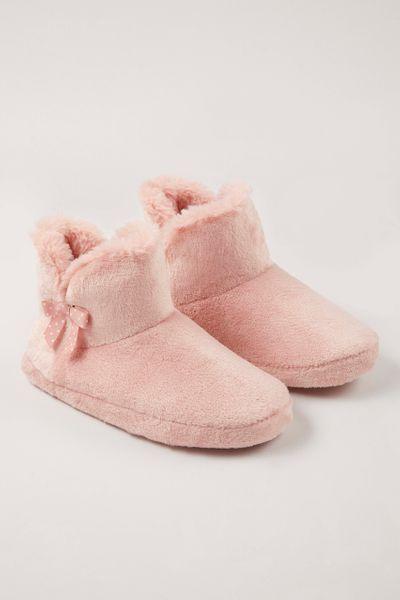 Pink Faux Fur boots