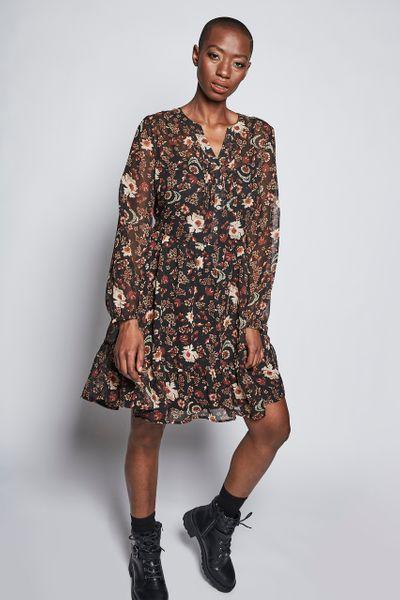 Flower Chiffon Dress