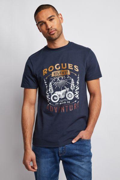 Navy Motorbike T-Shirt