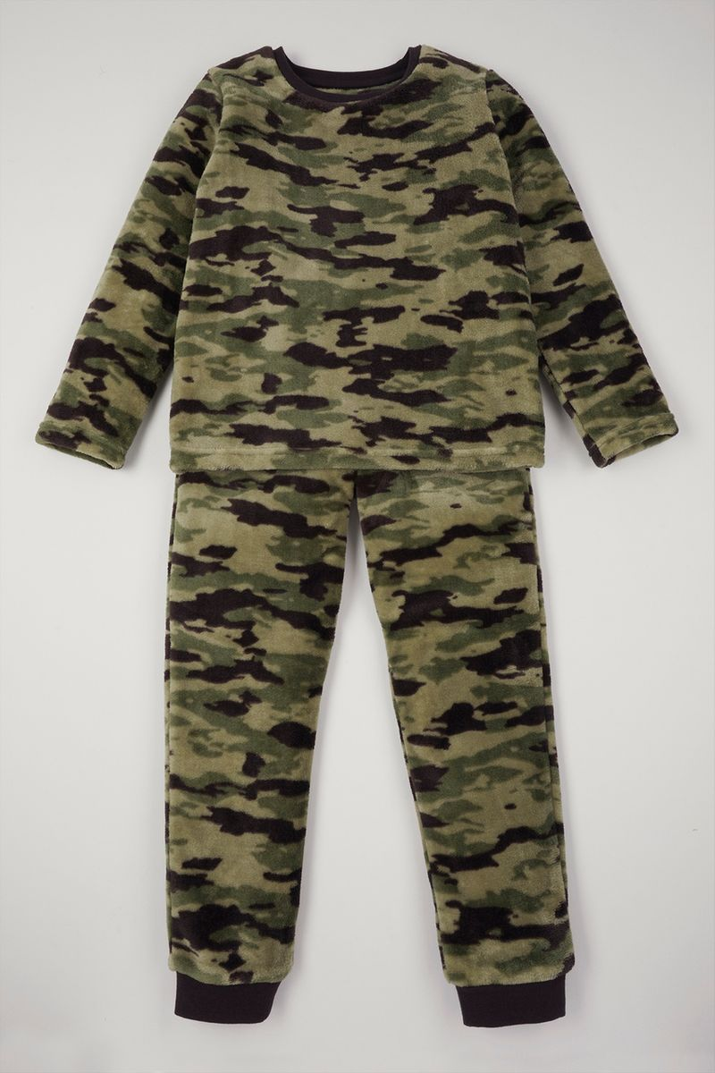 Camo Print Fleece Pyjamas