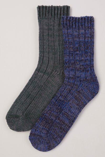 2 Pack Blue Bramble Socks