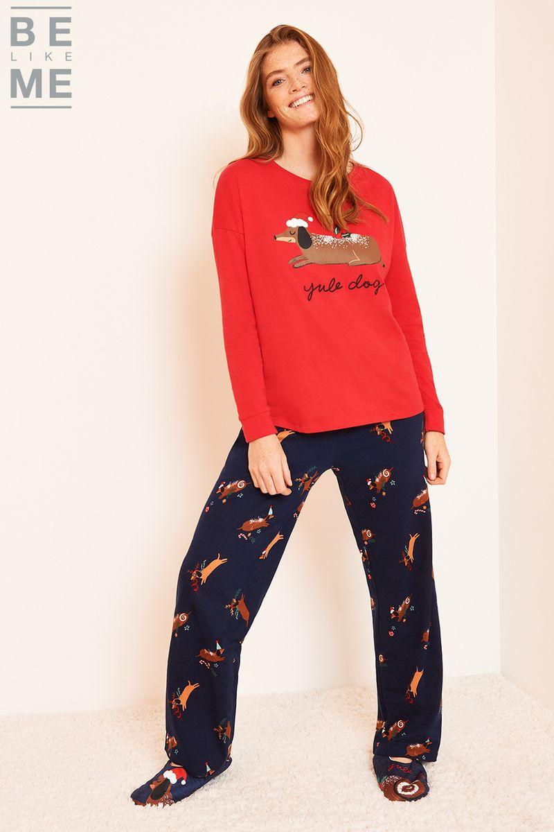 Family Of Ladies Yule Dog Pyjamas