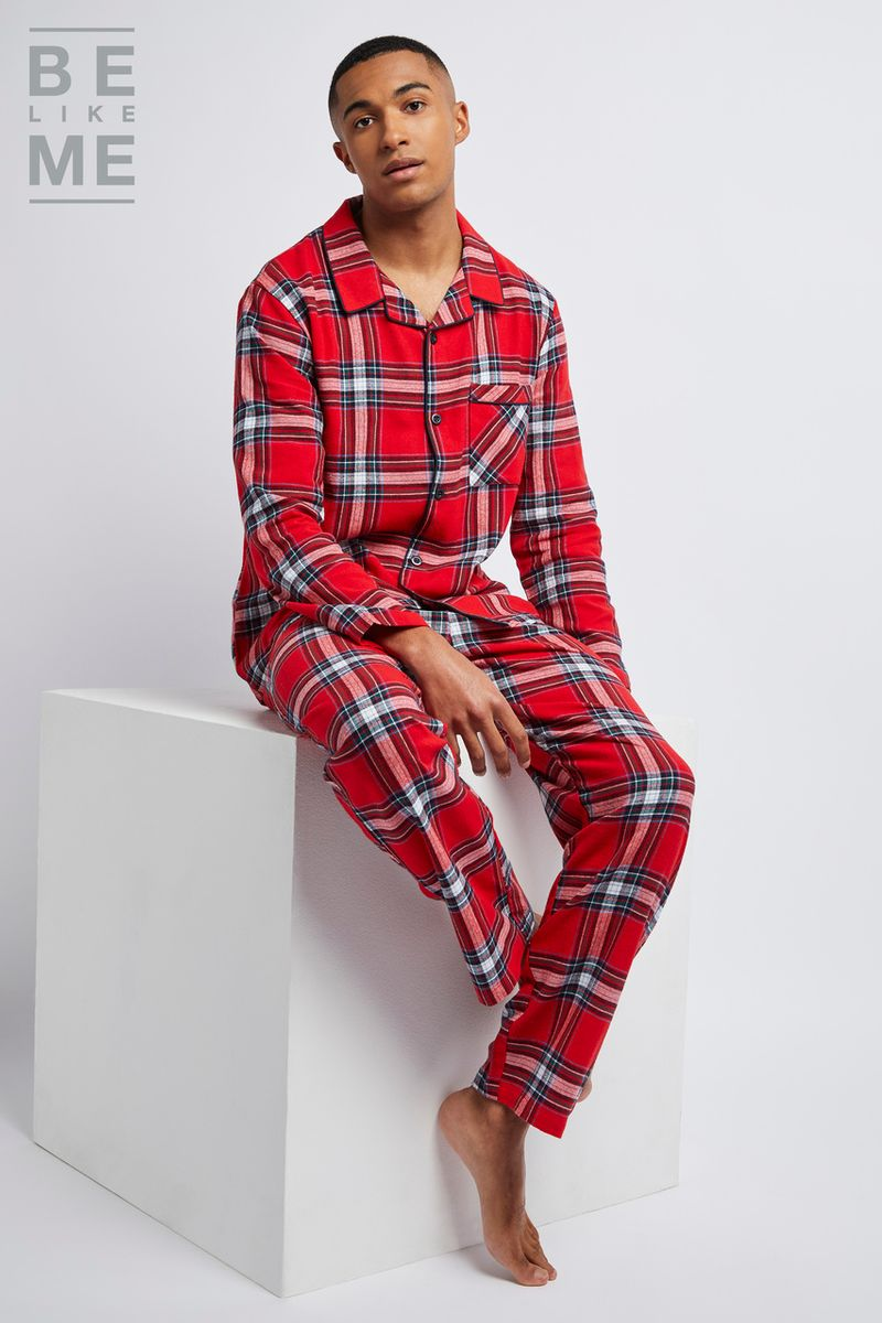 Family Of Mens Christmas Traditional Pyjamas